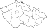 Mapa ČR - poloha obce Bílý Potok