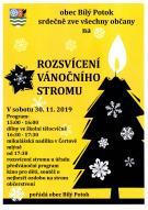 Pozvánka na rozsvícení vánočního stromu